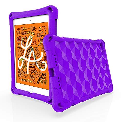 OQDDQO Schutzhülle für iPad Mini 5, iPad Mini 4, stoßfest, rutschfest, leicht, Schutzhülle, kompatibel mit iPad Mini 5/4 Generation Tablet (lila)