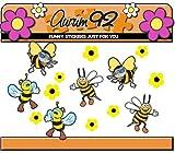 Pegatinas diseño de abejas, 6 unidades