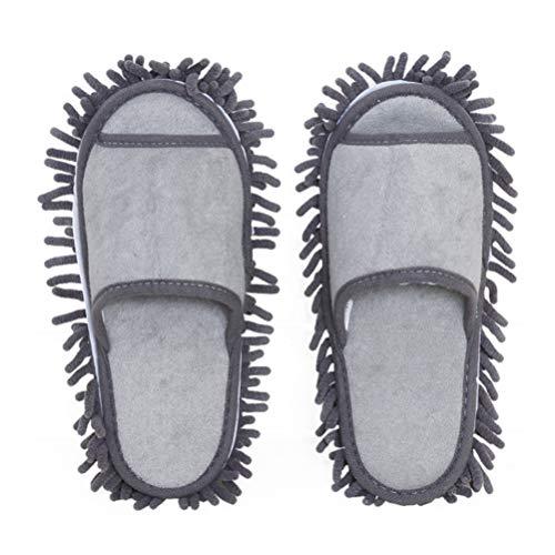Holibanna Mikrofaser Staubwischer Hausschuhe Faul Reinigung Fußreiniger Schuhe Mikrofaser Tragbare Baumwolle Hausschuhe 1 Paar