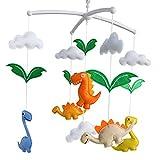 Panda Legends Baby Crib Bell Handmade Musical Mobile Colorful Dinosaur Nursery Decor