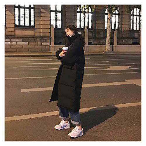 De las mujeres Chaquetas de plumas de las mujeres de gran tamaño sobre la rodilla largo abrigo cálido vintage invierno algodón acolchado chaqueta parkas casual coreano femenino grueso Outwears