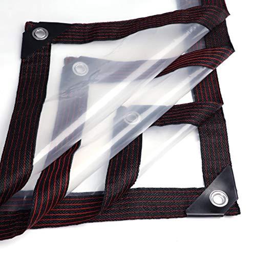 JLXJ Lona Impermeable Transparente Lona Alquitranada, Polvo Impermeable El Plastico Paño de Aislamiento de Polietileno Lona Transparente para Techo de Camión Invernadero de Pérgola (Size : 5m×5m)