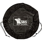 Santa Barbara Surfing Suit Saver Wetsuit Changing Mat/Waterproof Wet Bag - for A Clean Wet Suit Change (Black)