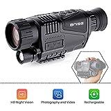 BNISE Night Vision Monocular 8x40 HD Camera Goggles Camcorder USB AV Output 328ft