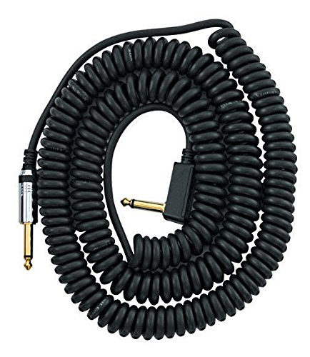"""VOX VCC090 Black Coiled 1/4"""" Cable with Mesh Bag, 29.5'"""