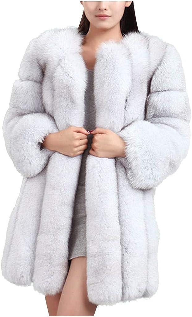 Faux Fur Coat Striped Women - NRUTUP Faux Fur Coat Long Sleeve, Elegant Fur Coat for Wedding Party, Plus Size Coat