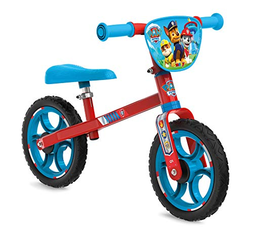 Smoby 770203 First Bike Laufrad, stabiles Metallrad im Paw Patrol Design für Kinder ab 2 Jahren, Mehrfarbig