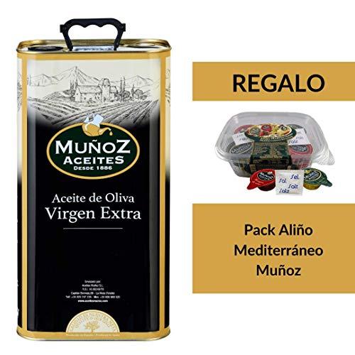Lata metálica 5 L | Aceite de Oliva Virgen Extra | Muñoz – Comprar Aceite de Oliva Virgen Extra Lata 5 litros