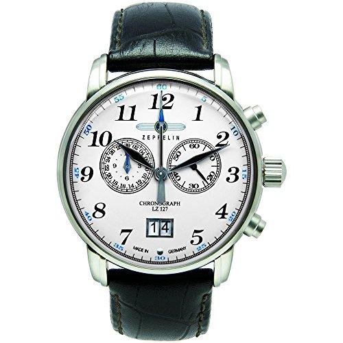 Zeppelin Herren-Armbanduhr XL LZ127 GRAF Chronograph Quarz Leder 76861