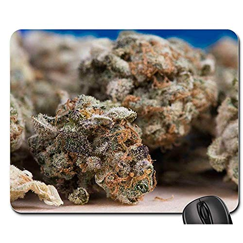 Mauspad,Cannabis Marihuana Weed Pot Hanf Pflanze Droge Personalisierte Computer Pad Mat 18Cmx22Cm