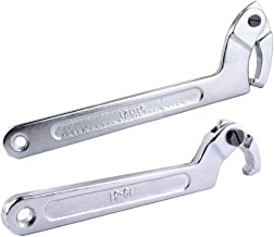 "Wadoy Adjustable C Spanner Hook Wrench Chrome Vanadium 3/4-2""(19-51Mm)+2-4 3/4""(51-121Mm) Spanner Set-Used to Tighten Side..."