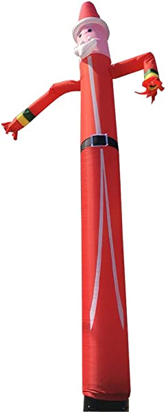 充气筒人天空木偶舞者滑稽古怪挥舞充气筒家伙圣诞老人圣诞广告无鼓风机