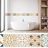 setecientosgramos Cenefa Auto-Adhesiva | Decoración de Pared Cocina & baño, 5 m x 15 cm | lis