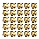 WINOMO, campanellina di Natale, decorazione per matrimonio o albero di Natale, 100 pezzi, 12 mm (oro)