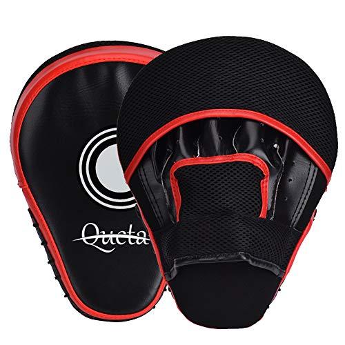 Queta Pratzen PU Handpratzen 1 Paar Trainerpratzen für Kickboxen Boxen Muay Thai Bewegung Karate Taekwondo Martial Arts (Typ1)