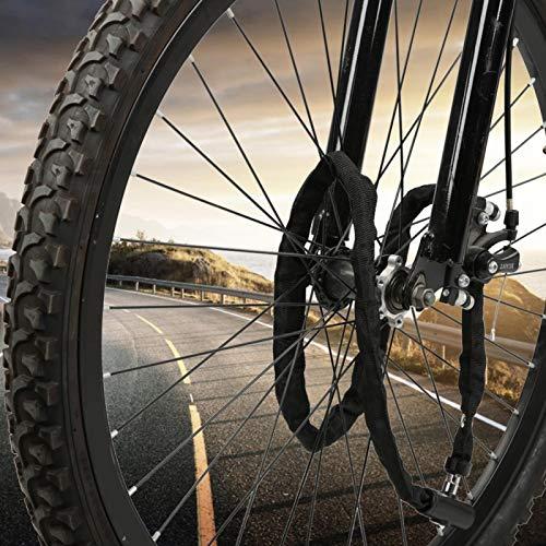 SALUTUYA La Cerradura de Cadena portátil de la Bicicleta alarga la Cadena, Conveniente para la Bici