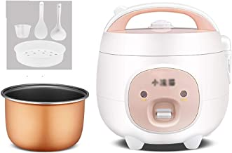 Rijstkoker (1.6L/300W) Huishoudelijke Mini niet-Stick Rijstkoker, One-Key Koken en Automatische Warmtebehoud