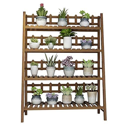 ZHEYANG Soporte para plantas de madera maciza con 4 niveles, para balcón, soporte para plantas de jardín, 6 tamaños de 45 pulgadas, regalos para esposa (tamaño : 80 cm)