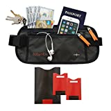 Travel Money Belt - RFID-Blocking Waist Wallet. Protect Your Phone, Passport & Credit Cards In This Comfortable, Sleek, Secret Fanny Pack... Perfect For Running, Hiking & Vacation Traveling (2 STYLES)