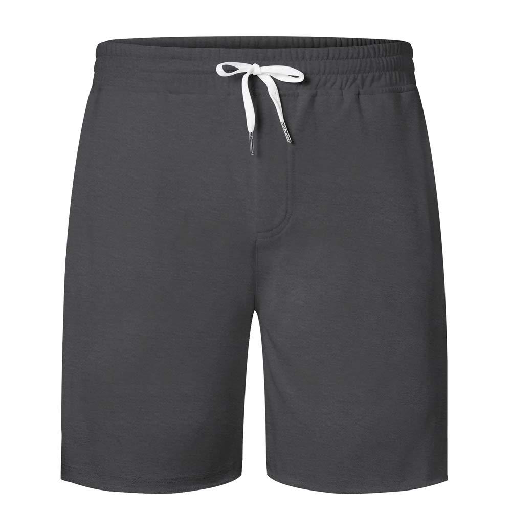UNIFACO Shorts de Sweat Homme Sport Coton Bermuda Jogging Pantalon Court Pyjama d'été pour Homme