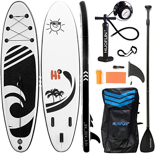 HIJOFUN Premium Inflatable Stand Up Paddle Board 10'6'×32'×6' Ultra-Light Standing Boat for Youth...