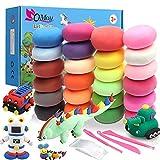 QMAY Kit di Argilla Modellante, 24 colori di argilla secca all'aria con strumenti di scultura regalo ideale per ragazzi e ragazze