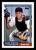 Jason Varitek Rookie Card 1992 Topps Traded #123T. rookie card picture