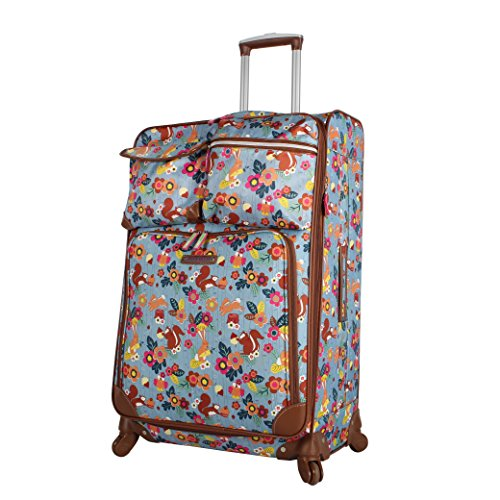 Lily Bloom Luggage Large Expandable Design Pattern Suitcase With Spinner Wheels For Woman (28in, Trees Company)