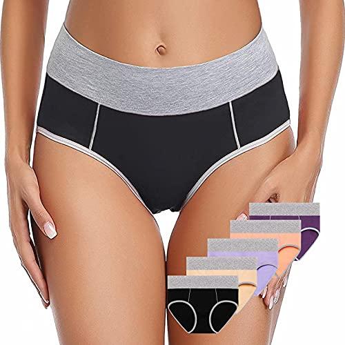 Women's Soft Cotton Underwear Panties, Stretchy Breathable Comfortable Cotton Underpants Briefs For Women MutiPack