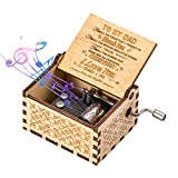 ASZKJ You are My Sunshine Wood Music Boxes,Laser Engraved Vintage Wooden Sunshine Musical Box Gifts for Birthday/Christmas/Father's Day(Daughter to DAD)