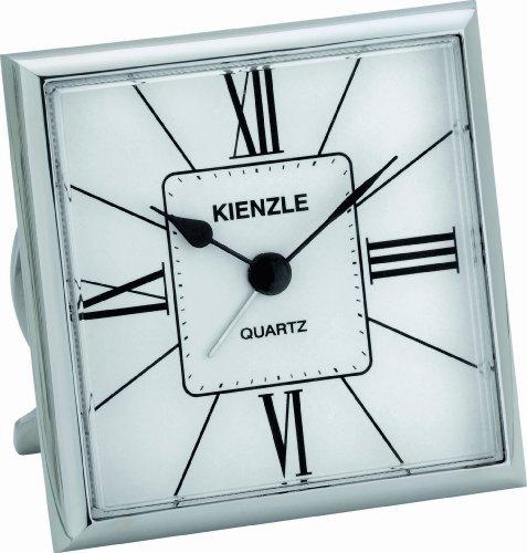 KIENZLE Quarzreisewecker RETRO Quartz Standfuß, Ziffernblatt Silber V81097142970