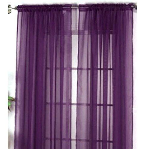 Neue Solid Color Voile Transparenter Vorhang Flächenvorhänge, Vorhänge für Wohnzimmer Fenster Vorhänge 100 * 200cm