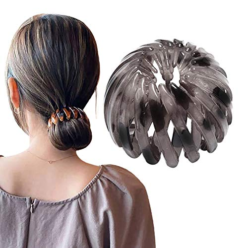 Younoo Bird Nest Hair Clips Hair Clips Ponytail Holder Stretchy Hair Accessories for Women and Girls (G)