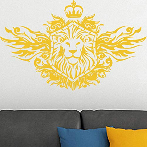 Lion Pattern Wall Sticker Removable Wall Stickers Wallpaper for Living Room Bedroom Stikers for Wall Decoration violet XXL58cm X 96cm