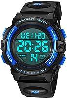 Kid's Watch,Boys Watch Digital Sport Outdoor Multifunction Chronograph LED Waterproof Alarm Calendar Analog Watch for...