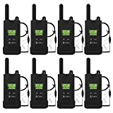 COBRA PX500 Pro Business Walkie Talkies - One Watt, Rechargeable, Long Range Two-Way Radio Set with VOX (8 Pack: Includes (8) GA-SV01 Headsets)