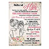 HTDZSW Mantas para Sofás de Manta de Correo Personalizado Manta Premium mère para mi Hija Manta Franela Ideal para cumpleaños Navidad Acción de Gracias graduación Regalo,A,150 * 200