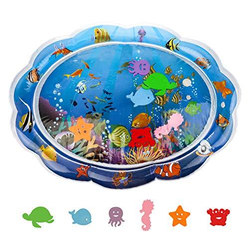 VAINECHAY Manta Agua Bebé Alfombra Inflable Bebés pequeños Jugar Centro de Actividades Estimulación Crecimiento Juguetes sensoriales Almohadilla, Azu