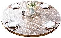 ラウンドテーブルクロス、PVC防水および耐油性使い捨てラウンドテーブルソフトガラスクロスラウンドテーブルクッションマット透明テーブルクロス(色:B、サイズ:100cm)