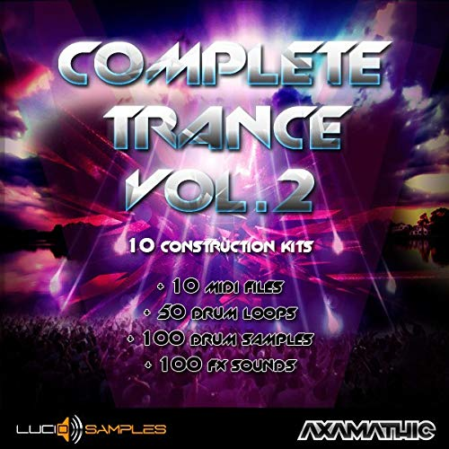 Complete Trance Vol. 2 - 10 Trance Construction Kits, Wav, Midi | AIFF + MIDI Files | DVD non Box