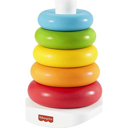 Fisher-Price Pirámide Balanceante Eco, juguete para bebé + 6 meses (Mattel GRF09)