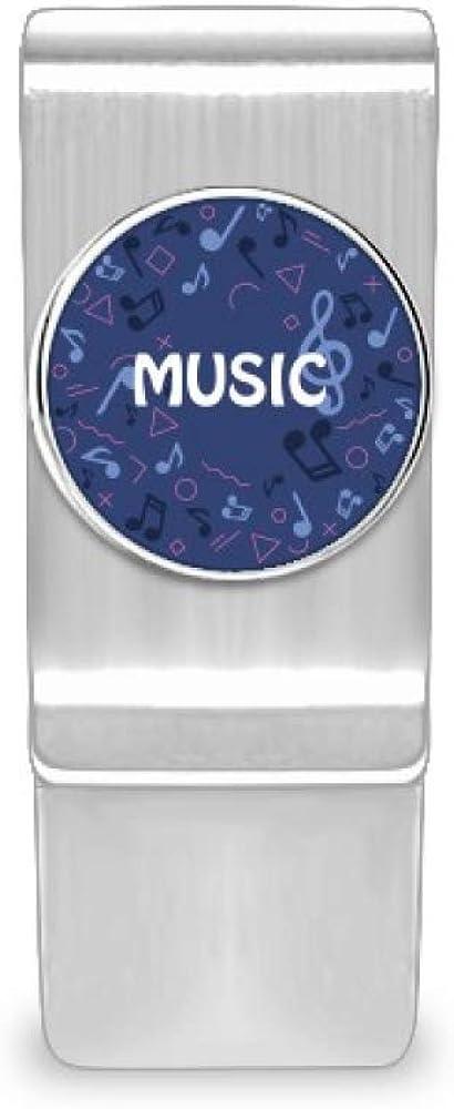 Round-Shaped Music Note Dark Blue Money Card Ho online shop Cash Clip favorite Wallet