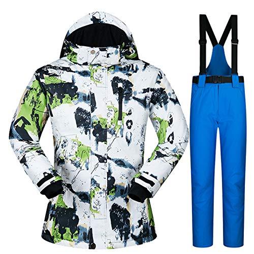 Yeah-hhi Traje de esquí para mujer, juego de chaquetas y pantalones de esquí, resistente al viento, impermeable, para esquí, camping, 1,L