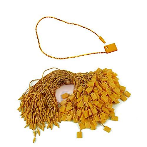 "7"" 1000pcs Hang Tag String Lock Pin Loop Black Nylon Tag String Snap Fastener Hook Ties Easy and Fast to Attach"