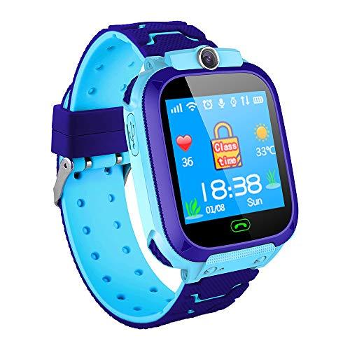Ajcoflt 1.44 '' Kids Smart Watch LBS Tracker SOS Call 2-Way Call Chat de voz Configuração da zona de segurança Lanterna À prova d 'água Crianças Telefone Watch Smartwatch Phone para meninos Meninas