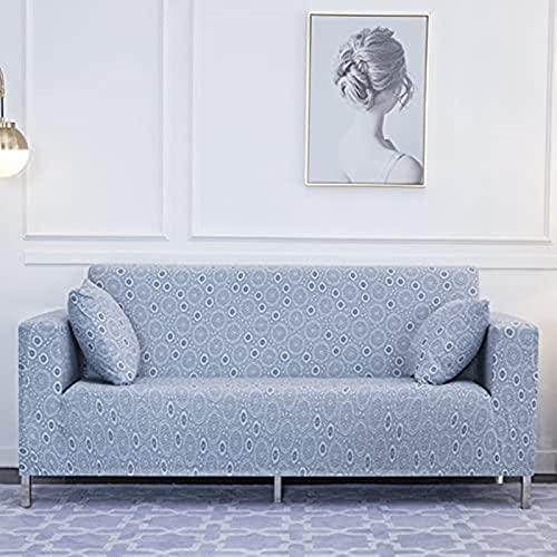 hd-3 Funda de sofá elástica geométrica para Sala de Estar, combinación Moderna, Funda de sofá de Esquina, Funda de sofá, Funda Protectora, A10, 3 plazas