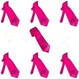 Oblique Unique Braut + Team Braut Krawatten Set für Junggesellinnenabschied JGA Hochzeit in Pink