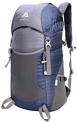 Mozone Large 45l Lightweight Travel Water Resistant Backpack/foldable & Packable Hiking Daypack - Blue - Large