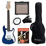 Rocktile Sphere Junior Guitare Eléctrique 3/4 Bleu SET avec ampli, cable et sangle
