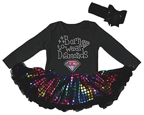 Petitebelle - Body - Bébé (fille) 0 à 24 mois noir Rainbows - noir - S